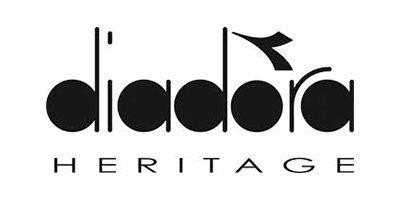 Logo diadora heritage nero sfondo bianco