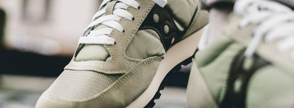 dettaglio sneakers saucony